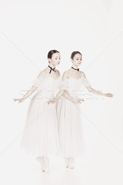 Romantikus szépség retró stílus portré kettő nő Stock fotó © master1305