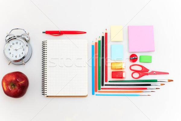 Scuola set matite pennello forbici Foto d'archivio © master1305