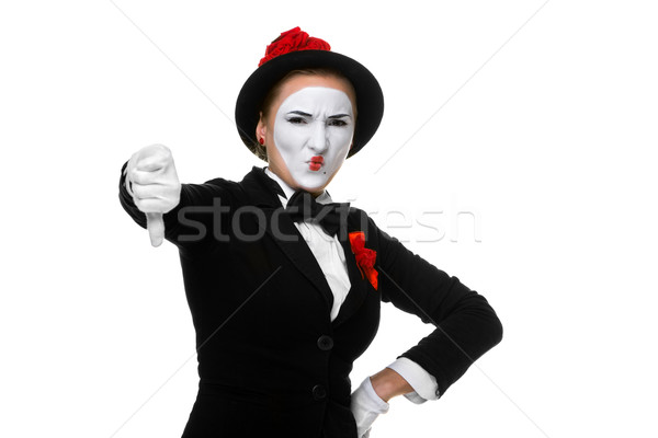 Portrait of the condemning mime  Stock photo © master1305