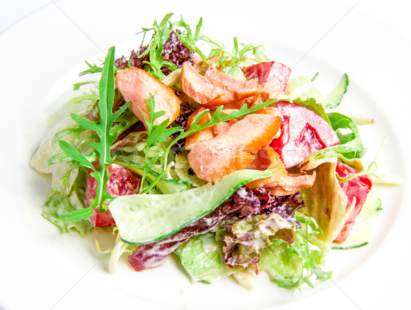 Salad mix with grilled salmon  Stock photo © master1305