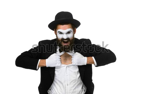 mime as business man with a megaphone Stock photo © master1305