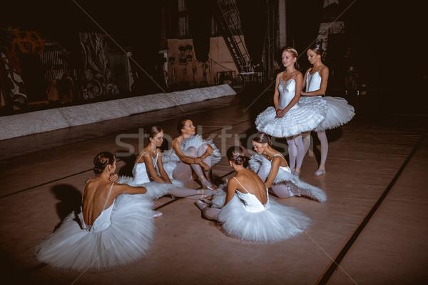 Stockfoto: Zeven · achter · theater · bar · ballet · vloer