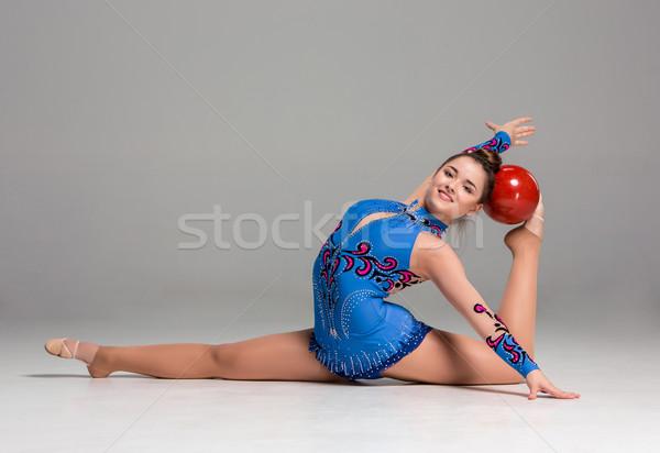 代 体操 赤 ボール グレー ストックフォト © master1305