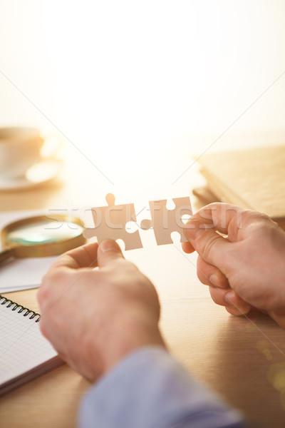 Foto stock: Edificio · negocios · éxito · manos · consulta · comercialización