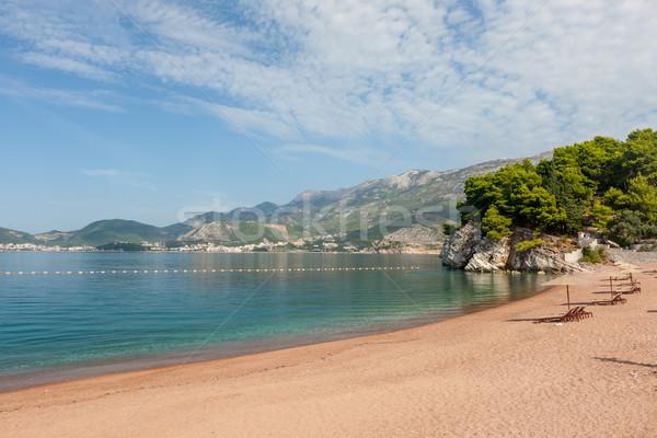 королевский пляж Черногория лет небе морем Сток-фото © master1305