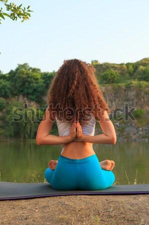 Yoga río nina deporte Foto stock © master1305