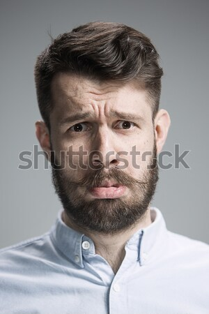 Handsome narcissistic proud young man Stock photo © master1305