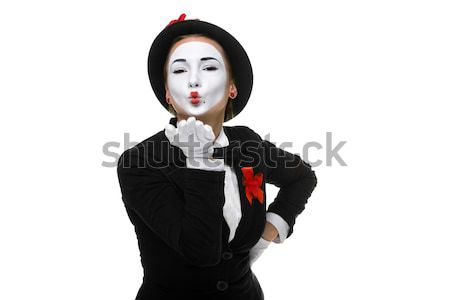 Portrait of the mime Stock photo © master1305