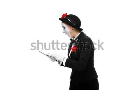 Foto stock: Mujer · de · negocios · imagen · sorprendido · aislado