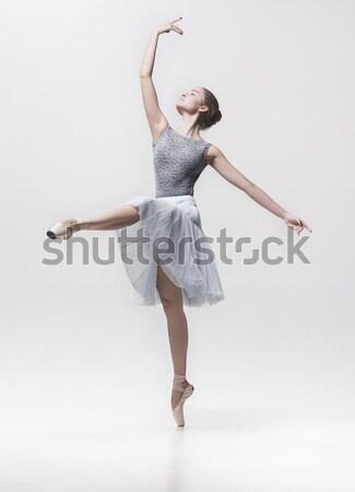Stockfoto: Weinig · ballerina · poseren · persoonlijke · leraar · dans