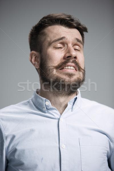 Pleurer homme larmes visage bleu Photo stock © master1305