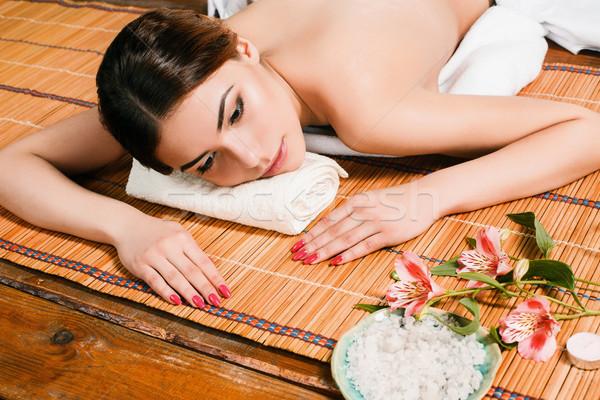 Beautiful young woman at a spa salon Stock photo © master1305
