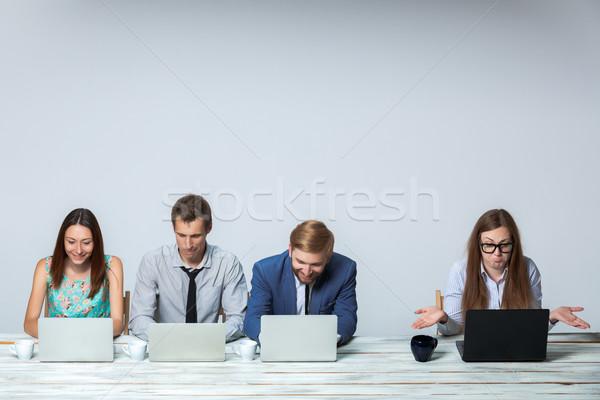 бизнес-команды рабочих бизнеса проект вместе служба Сток-фото © master1305