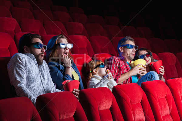 The people's emotions in the cinema Stock photo © master1305