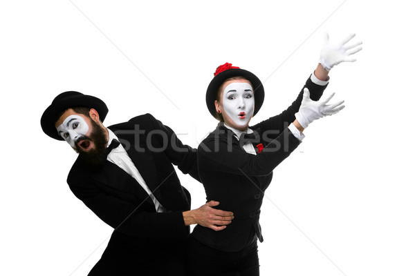 mime holding another one up and running Stock photo © master1305