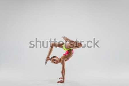 молодые красивой танцовщицы бежевый танцы Сток-фото © master1305