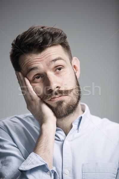 男 見える 退屈 グレー 着用 青 ストックフォト © master1305