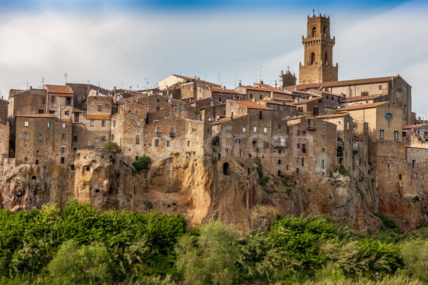 City on the clif in  Italy  Stock photo © master1305
