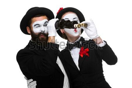 Two memes as business people looking through binoculars  Stock photo © master1305