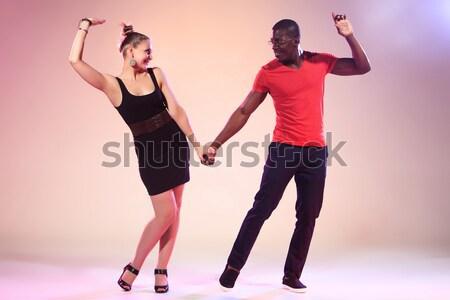 Photo stock: Femme · musique · fille · couple · énergie · jeunes