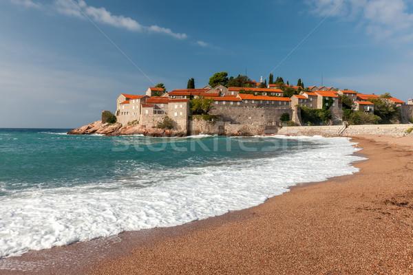 острове Черногория морем воды здании пейзаж Сток-фото © master1305