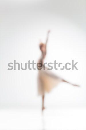 Blurred silhouette of ballerina on white background Stock photo © master1305
