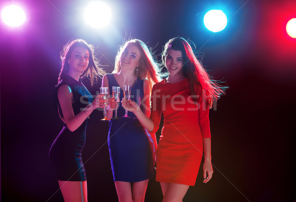 Beautiful girls dancing at the party Stock photo © master1305