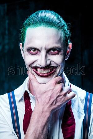 Kanlı halloween çılgın katil kasap elektrik Stok fotoğraf © master1305