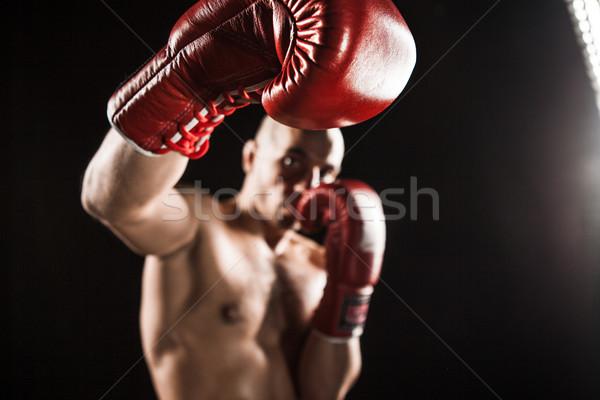 Giovane kickboxing nero giovani maschio atleta Foto d'archivio © master1305