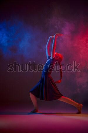 Teen moderno ballerino di danza classica femminile blu rosa Foto d'archivio © master1305