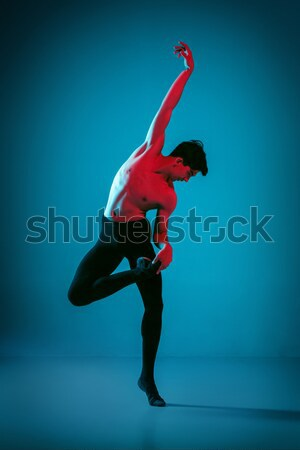 young ballerina sitting on wooden chair Stock photo © master1305