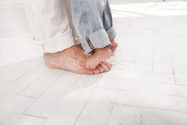 Negen maanden oude zoon voeten klein Stockfoto © master1305