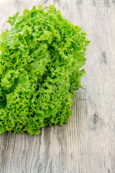 lettuce salad on a  wood background Stock photo © master1305
