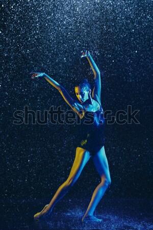 Stockfoto: Mannelijke · pauze · danser · water · donkere · dans