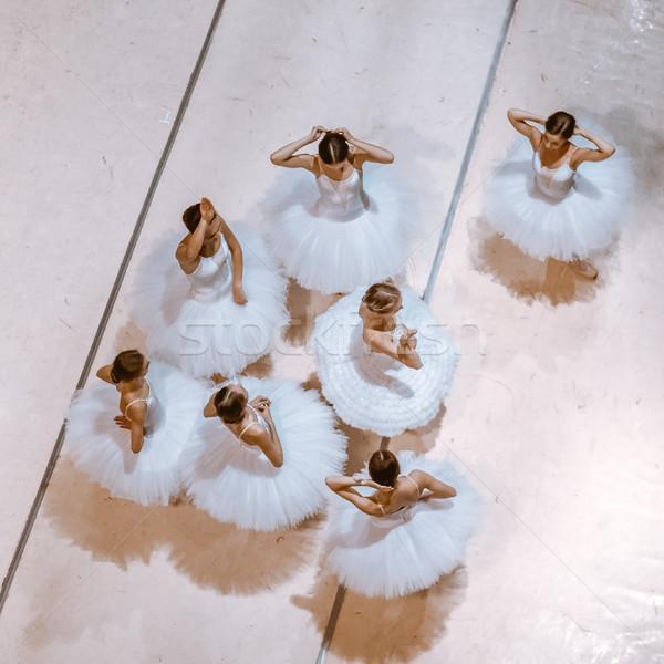 The seven ballerinas on floor Stock photo © master1305