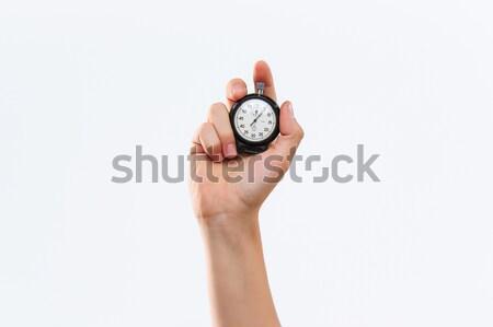 El kronometre beyaz erkek spor Stok fotoğraf © master1305