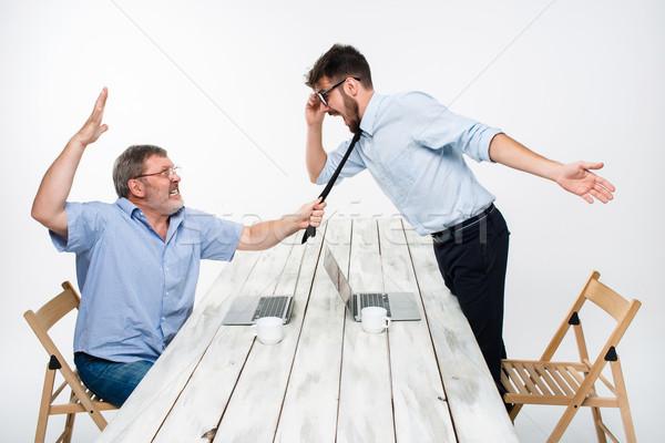 бизнеса конфликт двое мужчин отрицательность один Сток-фото © master1305