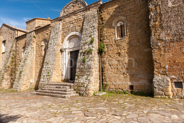 古い 教会 トスカーナ イタリア 風景 岩 ストックフォト © master1305