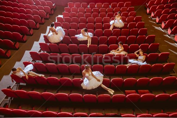 Séance vide auditorium théâtre bar ballet Photo stock © master1305