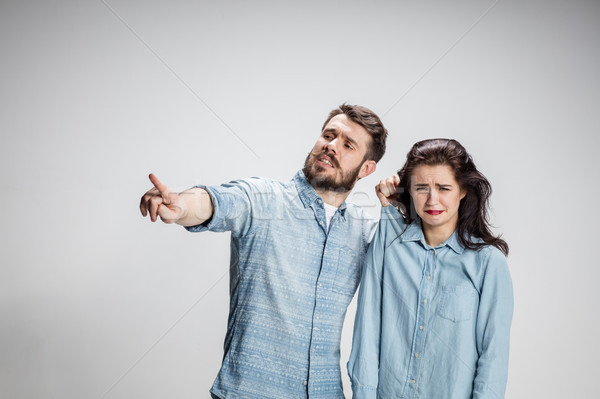 The young couple with different emotions during conflict Stock photo © master1305