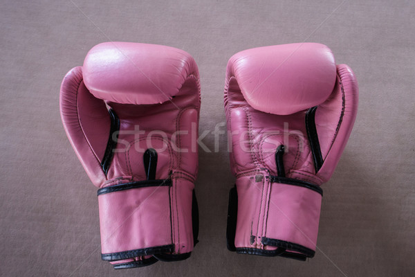 Pair of pink boxing gloves Stock photo © master1305