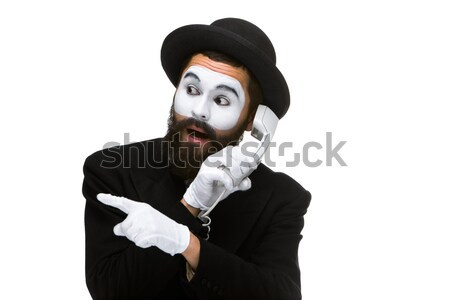 Portrait of the frightened mime  Stock photo © master1305