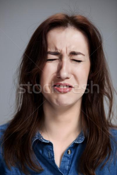 The crying woman face closeup Stock photo © master1305