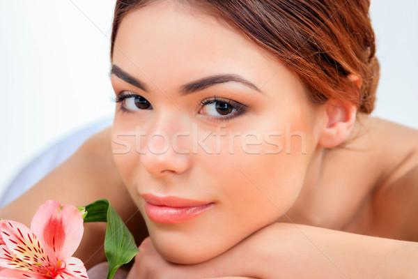 Hermosa spa salón cuerpo atención Foto stock © master1305