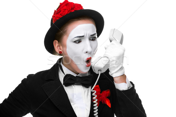 Vrouw afbeelding zakenvrouw schreeuwen Stockfoto © master1305
