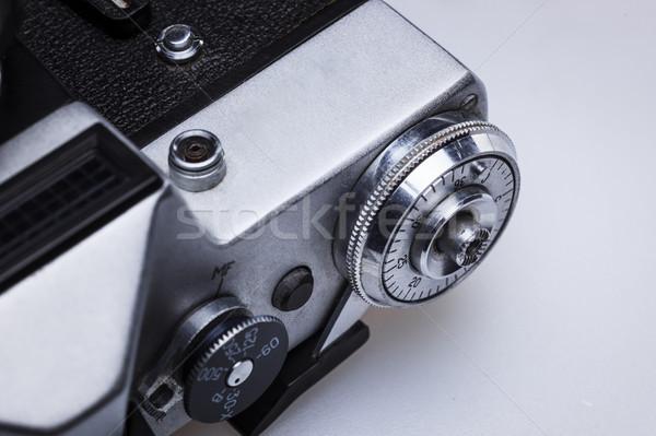 Közelkép öreg retro film kameralencse makró Stock fotó © master1305
