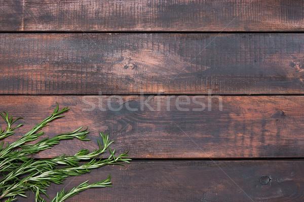 Romero mesa de madera rústico estilo frescos Foto stock © master1305