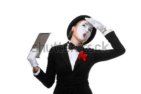 Zdjęcia stock: Business · woman · obraz · patrząc · laptop