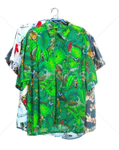 Izolált trópusi pólók fehér három buli Stock fotó © master1305