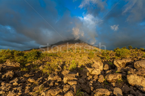 Clouds over the volcanic mountain  Stock photo © master1305